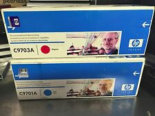 Hp Color Laserjet Print Cartridge 1500 • 2500 Lot of 2 C9701A C9703A