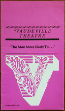 'The Man Most Likely To…' by Joyce Rayburn, Vaudeville Theatre Programme 1968
