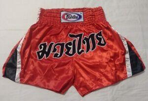 NEW! Muay Thai Kickboxing Shorts - Choose - Fairtex Boon Twins - Silver Red Blue