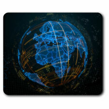 Computer Mouse Mat - 3D Abstract Globe Planet Earth Office Gift #21059