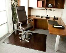 Anji Mountain 4 Slat 48 x 72 DK. CHERRY Bamboo Roll-Up Chair Mat AMB24015W NEW