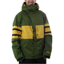Grenade M.M. Men's Snowboard Snow Ski Jacket Olive Green Small