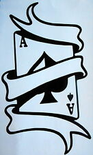 Ace of Spades Vinyl Sticker Body Panel, Decal, Graphic, Window/Windscreen