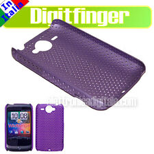 CUSTODIA BACK COVER IN PLASTICA RIGIDA LILLA GRID CASE PER HTC WILDFIRE HTC G8