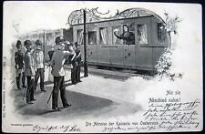 AUSTRIA~OESTERREICH~1900's KAISERIN (EMPRESS) IN TRAIN AT RAILROAD STATION
