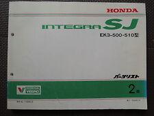 JDM Honda INTEGRA SJ Original Genuine Parts List Catalog EK3