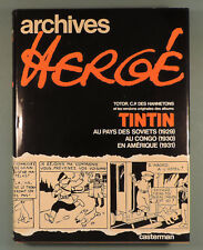 Tintin Archives Herge 1 Totor Soviets Congo Amerique Casterman Reed 1981