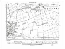 Norfolk in 1906 110NW repro Old map of Diss