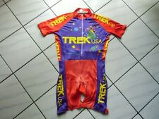 Rare Vintage TREK USA Cycling Skinsuit Jersey Shorts Speedsuit Size L