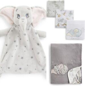 DISNEY BABY DUMBO Baby Blanket, Comforter And 3pk Muslins BNWT Primark