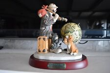 Flambro Emmett Kelly Jr Ekj Limited Ed 1992 World Traveler 9712 Signed Box Coa
