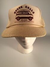 Vintage Trucker Hat, House Calls Automotive, Mechanic, Repair, Shop, Houston TX