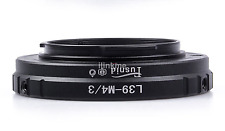 L39 M39 Lens to Micro M 4/3 M43 Adapter Ring for Leica L39-M4/3 E-PM2 EM5 G5 UK