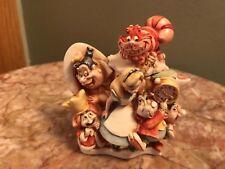 Harmony Kingdom Disney Alice in Wonderland Queen of Hearts Chersire Cat UK MADE