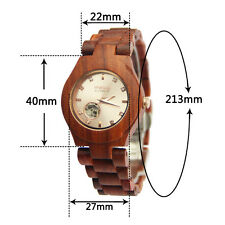 Women Watch,Automatic Mechanical Watches Wooden Wristwatch Casual Watches Gift