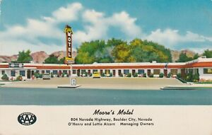 America  Postcard 1956 Moore's Motel