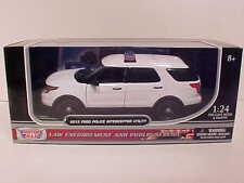 3 pak 2015 Ford Explorer Police Interceptor Diecast Car 1:24 Motormax 8in Unmark