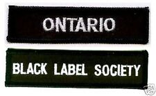 BLACK LABEL SOCIETY MEMBER CLUB COLLECTION: ONTARIO BLS FAN CLUB PATCH SET