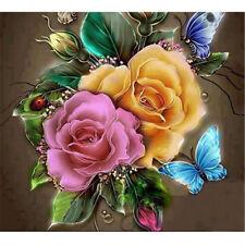 1set diamante pintura DIY Home Decor colorido rosa mariposa diamante bord UPIT