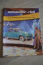 AUTOMOBILE CLUB N°22 JANV 1956 // MADERE MOTOCYCLE SECURITE LUTTER CONTRE HIVER