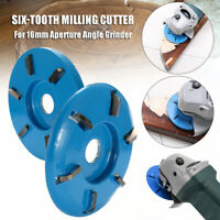 6 Teeth Wood Carving Disc Tool Milling Cutter for 16mm Aperture Angle Grinder