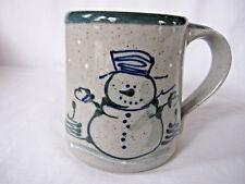 New ListingSnowman Mug, Trees & Snowflakes Design, Great Bay Pottery, New