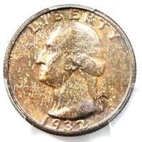 1932-D Washington Quarter 25C Coin - Certified PCGS MS64 (BU UNC) - $1,800 Value