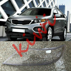 Left Side Headlight Cover Clear PC + Glue replace Fit For KIA Sorento 2009-2012