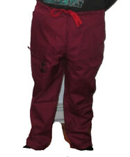 Hospital Scrubs Pants Multi-pocket Drawstring Burgundy (Maroon) Pants Bottom 2Xl