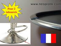 Protection pour 2 tabourets socle pied tabouret métal (plastique joint profilé)