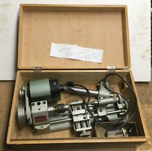 UNIMAT DB-200 LATHE WITH BOX - MOTOR HAS A PROBLEM & MISSING SOME PARTS