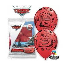 "12 X Disney Cars rayo McQueen & Mater rojo 12"" Qualatex globos Látex"