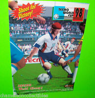 WORLD CUP '98 By TECMO 1998 VIDEO ARCADE GAME MACHINE MAGAZINE AD ARTWORK