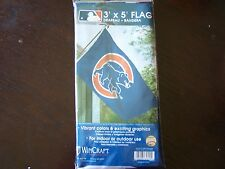 NEW Chicago Cubs Flag Wincraft Banner Walking Bear Outdoor Indoor Cubbies Blue