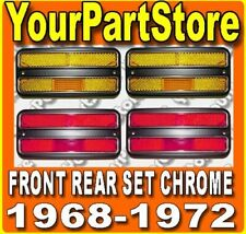 68 69 70 71 72 CHEVY GMC PU Pickup TRUCK SIDE MARKER LIGHTS CHROME FRONT & REAR