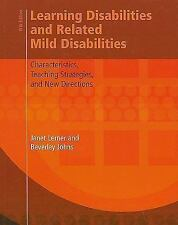 Learning Disabilities and Related Mild Disabilities : Characteristics, Teaching