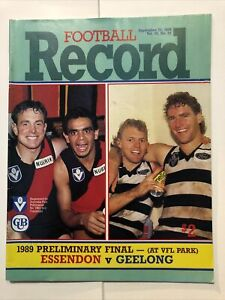 GREAT 1989 AFL PRELIMINARY FINAL RECORD Essendon Vs Geelong - Very Good