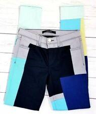 J Brand Slick Skinny Jeans Size 25 (25x30) Stretch Color Blocked Patchwork