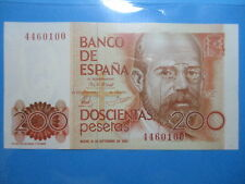 BILLETE DE 200 PESETAS DE 1980 CLARIN SIN CIRCULAR, SIN SERIE