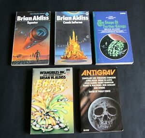 Five Sci Fi Paperbacks by Brian W. Aldiss - Very Good.-All UK 1st Editions.