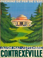 Contrexéville Chemins de fer de L' est France French Vintage Travel Poster Print