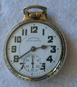 Vintage Hamilton 992-B 16 Size 21 Jewel Pocket Watch Railroad Grade