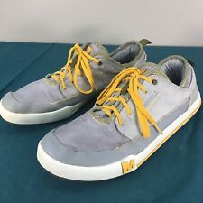Used Merrell Light Gray Yellow Laces Ace Rant Lace Up Mens Sneakers sz 12