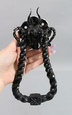 Antique Wrought Iron Gothic Mythological Dragon Architectural Door Knocker NR