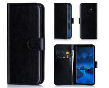 2 in 1 Leather Wallet Book Flip Cover Pouch Case For HTC Desire Vodafone Smart