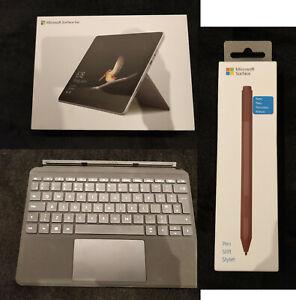 Microsoft Surface Go 64GB Silver, Win10, Laptop, Tablet, PEN + KEYBOARD + CASE