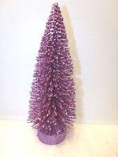 9in Glitter Dark Lavender Purple Easter Sisal Tree Bottle Brush Christmas