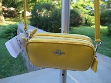NWT Coach Canary Pebbled Leather Cross Body Mini Pouch-53034-$150