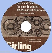 Girling commerciale del freno frizione informazioni circa 1959 ~ 1976 DVD ROM