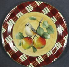 Lenox Winter Greetings Tartan Tufted Titmouse Dinner Plate Catherine McClung